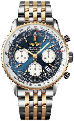 a watch for aviation: Replica 2-Tone Breitling Cosmonaute Navitimer