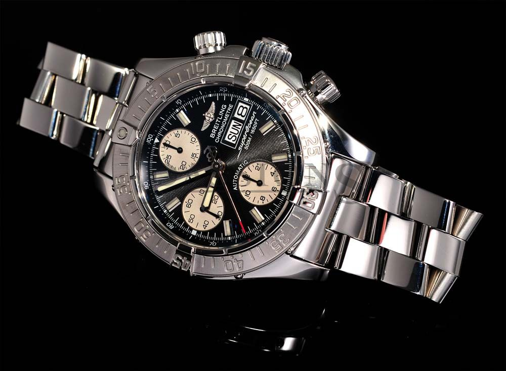 Breitling Superocean Chronograph replica resist the deep watch pressure