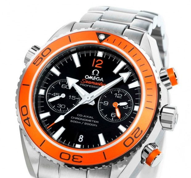 The visit for a unique Orange Omega Seamaster replica