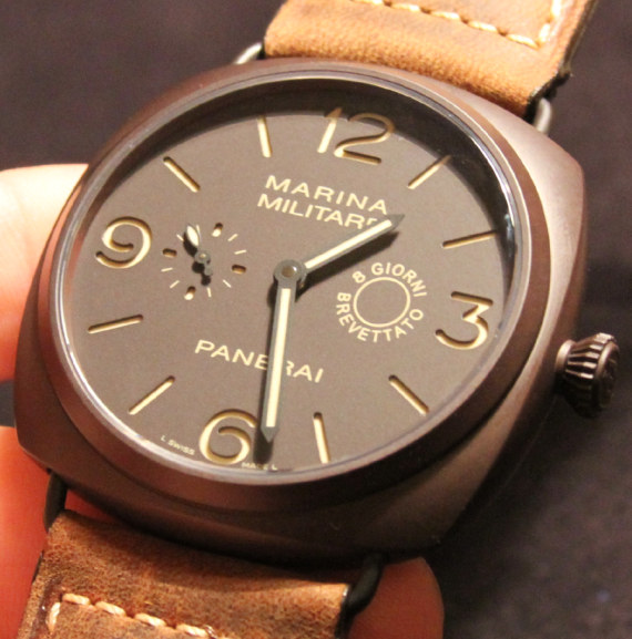 replica Panerai's Radiomir Composite Marina Militare 8 Days, a valuable timepiece collected by watch enthusiasts