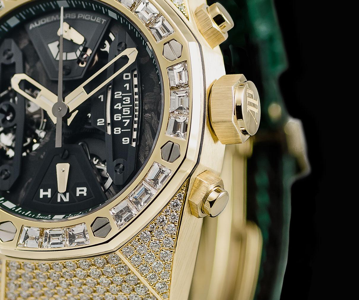 Audemars Piguet Royal Oak Concept Tourbillon Chronograph yellow gold diamond pave 2