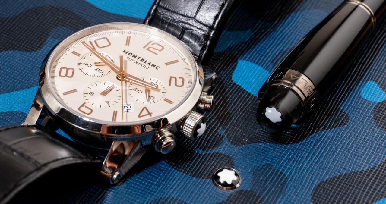 不再制造:万宝龙时光行者计时码表101549假手表