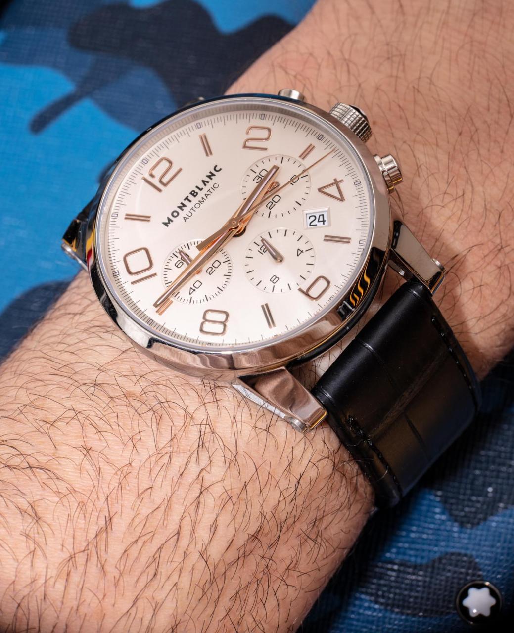 绝版万宝龙时光行者计时码表101549 Relica手表
